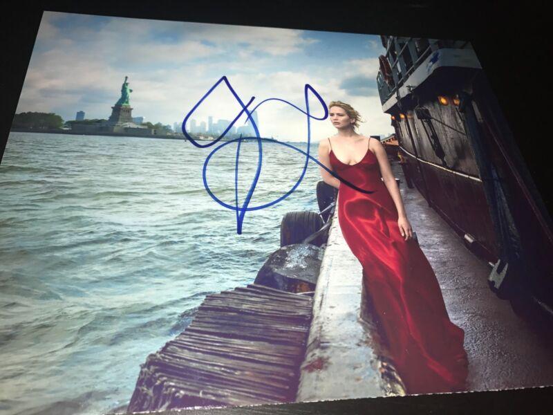 JENNIFER LAWRENCE SIGNED AUTOGRAPH 8x10 PHOTO NEW YORK VOGUE MAGAZINE COA AUTO