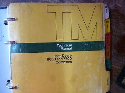 John Deere 6600 7700 Combine Shop Service Repair Technical Manual Tm-1021