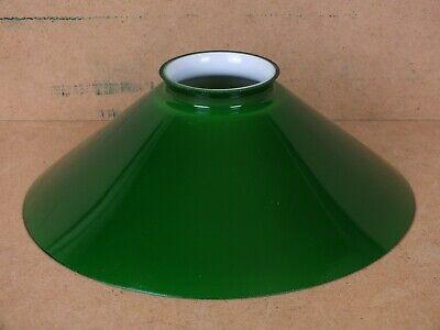 Glas Lampenschirme Stehlampen (Lampenschirm E14 E27 Glasschirm Grün Flach konisch für Stehlampe Hängelampe)