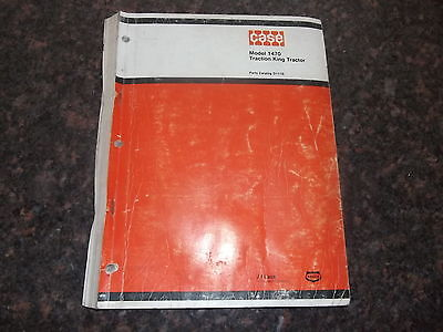 Case 1470 Traction King Tractor Parts Catalog Book Manual