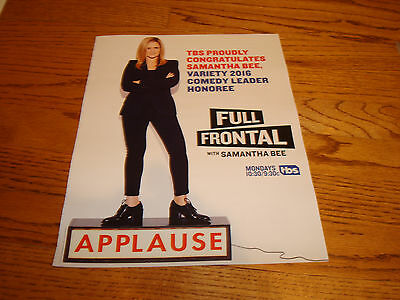 Full Frontal With Samantha Bee 2016 Congrats Ad For Comedy Leader Honoree
