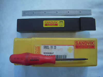 New Sandvik Coromant T-max U Srscl 16 2d Lathe Carbide Insert Holder