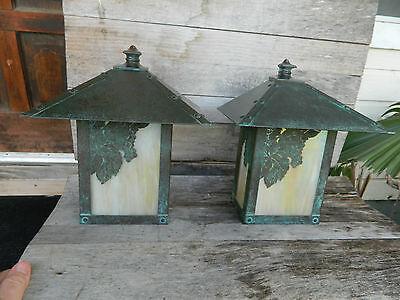 2 Arroyo Craftsman Solid Copper Outdoor Wall Light  Arts & crafts