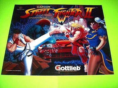 Gottlieb STREET FIGHTER II Original NOS Pinball Machine Translite Artwork 1992