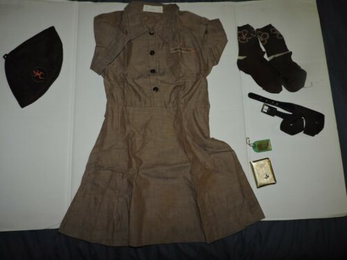 Vintage 1960s Girl Scout Uniform-Dress/Beanie and more