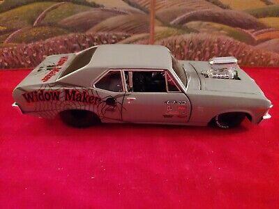 RARE Maisto Custom Shop 1970 Chevy Nova SS WIDOW MAKER 1:24 Metal Diecast