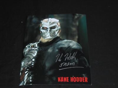 KANE HODDER Signed 8x10 Photo JASON VOORHEES Friday 13th 7,8