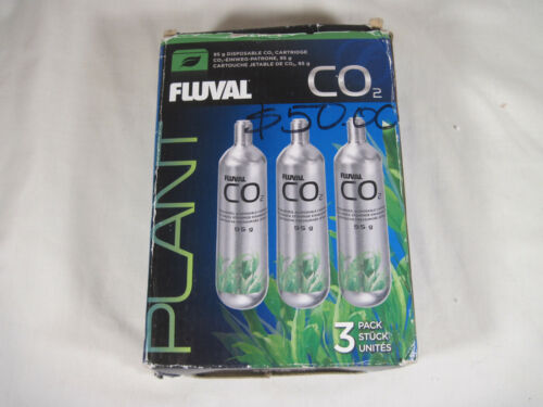 Fluval 3 Pack Pressurized CO2 Disposable Replacement Cartridges 95g Aquarium NEW