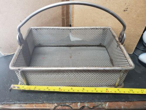 """Three M Tool Heavy duty Basket, Parts washing, 9"""" x 6"""" x 2.75"""", stainless"""