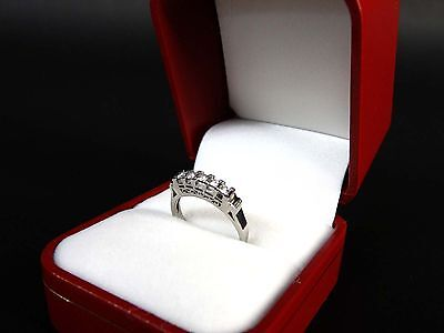 100% Auth Pt900 Platinum Engagement Ring with 0.15ct Diamond Size: 5.5 #1e2228
