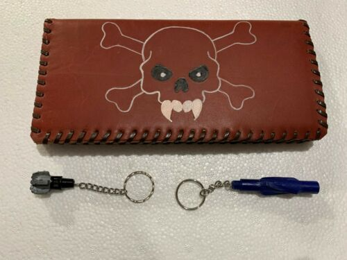 """Oil Field Leather Pipe Tally Book Cover 8.75"""" x 4"""" ( C )"""