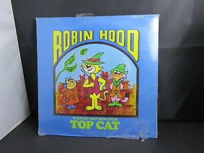 Record album-ROBIN HOOD IN STORY & SONG with TOP CAT -1977 cartoon
