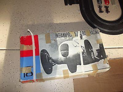 Strombecker Indianapolis 5 in 1 Slot Car Set Lot - Parts/Need Repair