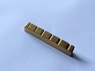 Guitar Top Nut (Bass guitar Brass nut 6 string Bass Top Nut 54mm x 6mm )
