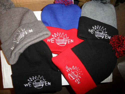 Ween Knit Beanie Hat Winter NWOT pompom embroidered boognish