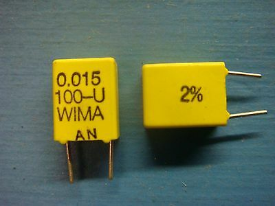 20 Wima Fkc2 0.0151002 0.015uf 100v 2 5mm Polycarbonate Film Capacitor