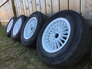BMW rims and winter tires (fit some Honda/Mazda etc)