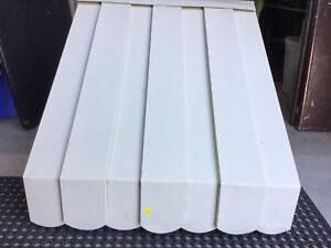 Awning aluminum 31Wx26H ivory beige pan scallop  for window