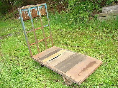 Factory Cart Steel And Wood 30 X 60 Orangeville Mfg Orangeville Pa