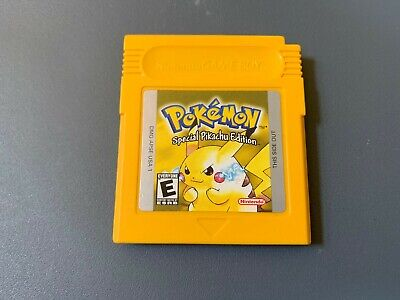 Pokemon Yellow Pikachu Edition (Game Boy) Authentic, Tested, Very Good Condition