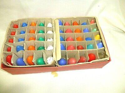 Lot of 50 Vintage Christmas C-9 1/4 Light Bulbs 4 Swirl tip assorted colors