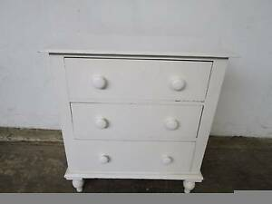 C50063 Small Vintage Pine White Chest of Drawers Mount Barker Mount Barker Area Preview