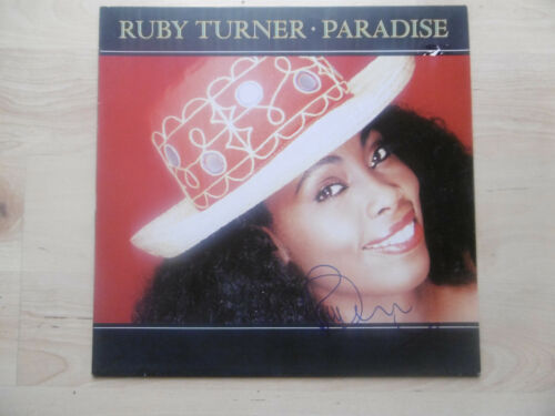 "Ruby Turner Autogramm signed LP-Cover ""Paradise"" Vinyl"