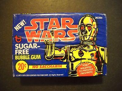 1978 STAR WARS SUGAR FREE FULL BOX (36 BUBBLE GUM PACKS)  TOPPS  *MINT*