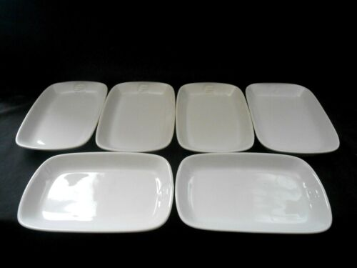 Vintage Wessco Japan Frontier Airlines 6 First Class Meal Plates Excellent w1s7