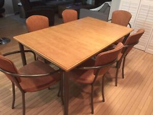 Dining set table with 6 chairs