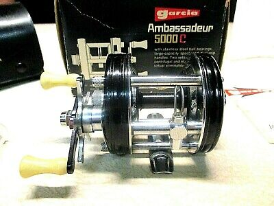 ABU GARCIA AMBASSADEUR FISHING REEL W/ BOX - BLACK 5000-C - SUPER CLEAN REEL