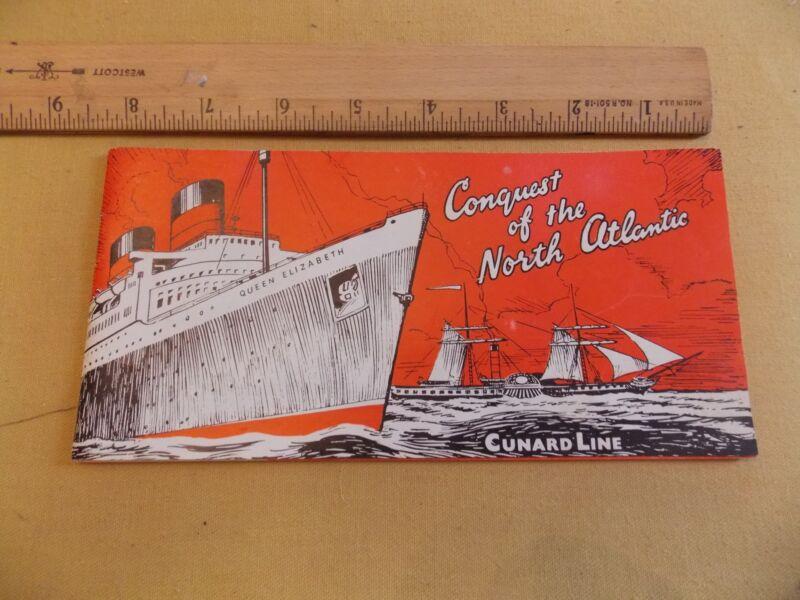 1958 25 page Brochure CUNARD Ocean Liner Steamship Queen Elizabeth NICE!! WOW!!!