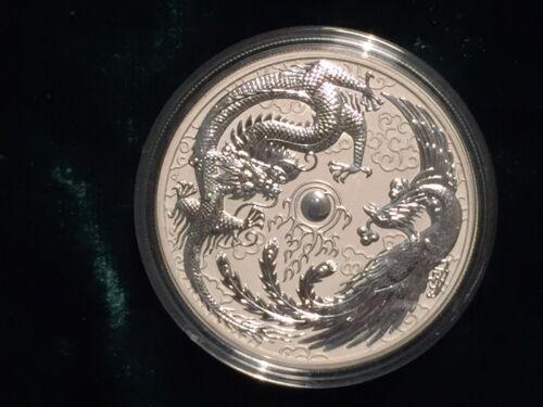 2017 Australia 1 oz. silver Dragon & Phoenix coin BU - limited mintage of 50K