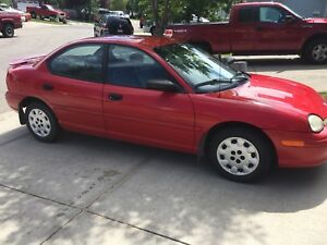 1998 Plymouth Neon 4 Door. Grandma car from BC super low kms