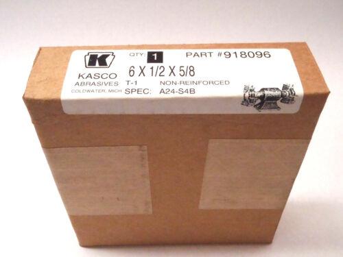 Kasco Abrasives 918096 6 X 1/2 X 5/8 T-1 Non-Reinforced Grinding Wheel A24-S4B