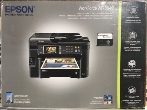 Epson wf-3640 wireless color all-in-one inkjet printer with