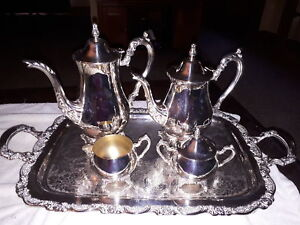silver plate tea and coffee set