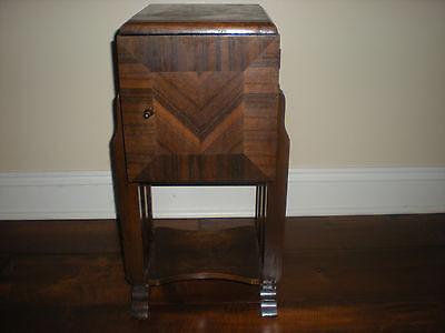 Vintage Mid Century Wood  Smoking Stand Cabinet/ Humidor
