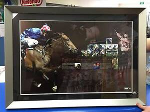 From Champion to Legend Framed Makybe Diva  Hand Signed Glen Boss Adamstown Newcastle Area Preview