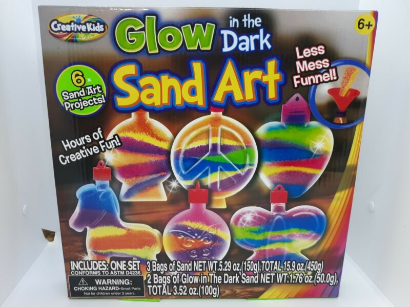 Creative Kids Glow in the Dark Sand Art ~ 6 Sand Art Projects Ages 6+