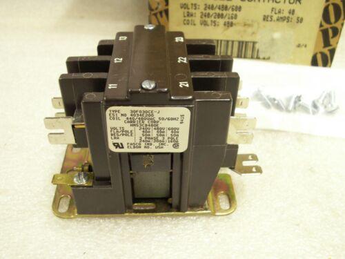 Carrier 50 AMP 3 Pole Contactor 240V/480/600V Coil 480V HN 53CD480    (WW)
