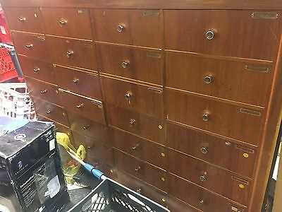 Store Fixture Mid Century Modern Draws Organizer Filing Cabinet Wood Furniture
