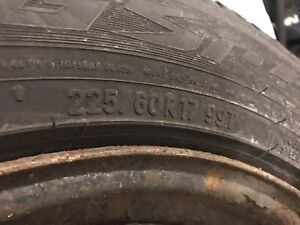 Winter tires w/Rims 225 60 17