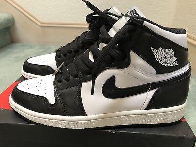 super popular bbcba 43799 Nike Air Jordan 1 Retro High OG Black White Size 8.5 Mens Oreo