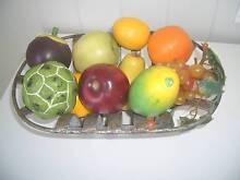 ARTIFICIAL EXOTIC TROPICAL FRUIT IN METAL BASKET, MANGO, SAPOTE Caloundra Caloundra Area Preview