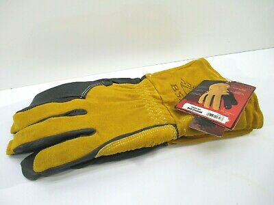 Medium Black Stallion Bsx Pigskin Leather Welding Gloves New Bm88-md