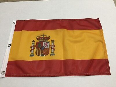 12x18 12''x18'' Spain Spanish Rough Tex Knitted Flag Banner Grommet-ON SALE!](Spanish Flags)