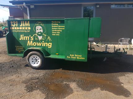 Lawn mowing trailer jims mowing