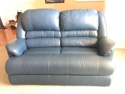 Leather lounges and armchairs.