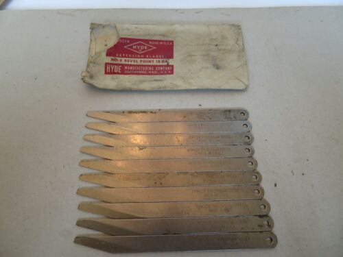 Vintage I. P. Hyde Replacement Leather Knife Blades no. 2, set of 10 NOS